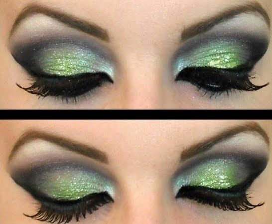 love colour differences between the greens and this is great for green eyes because it would really make them pop