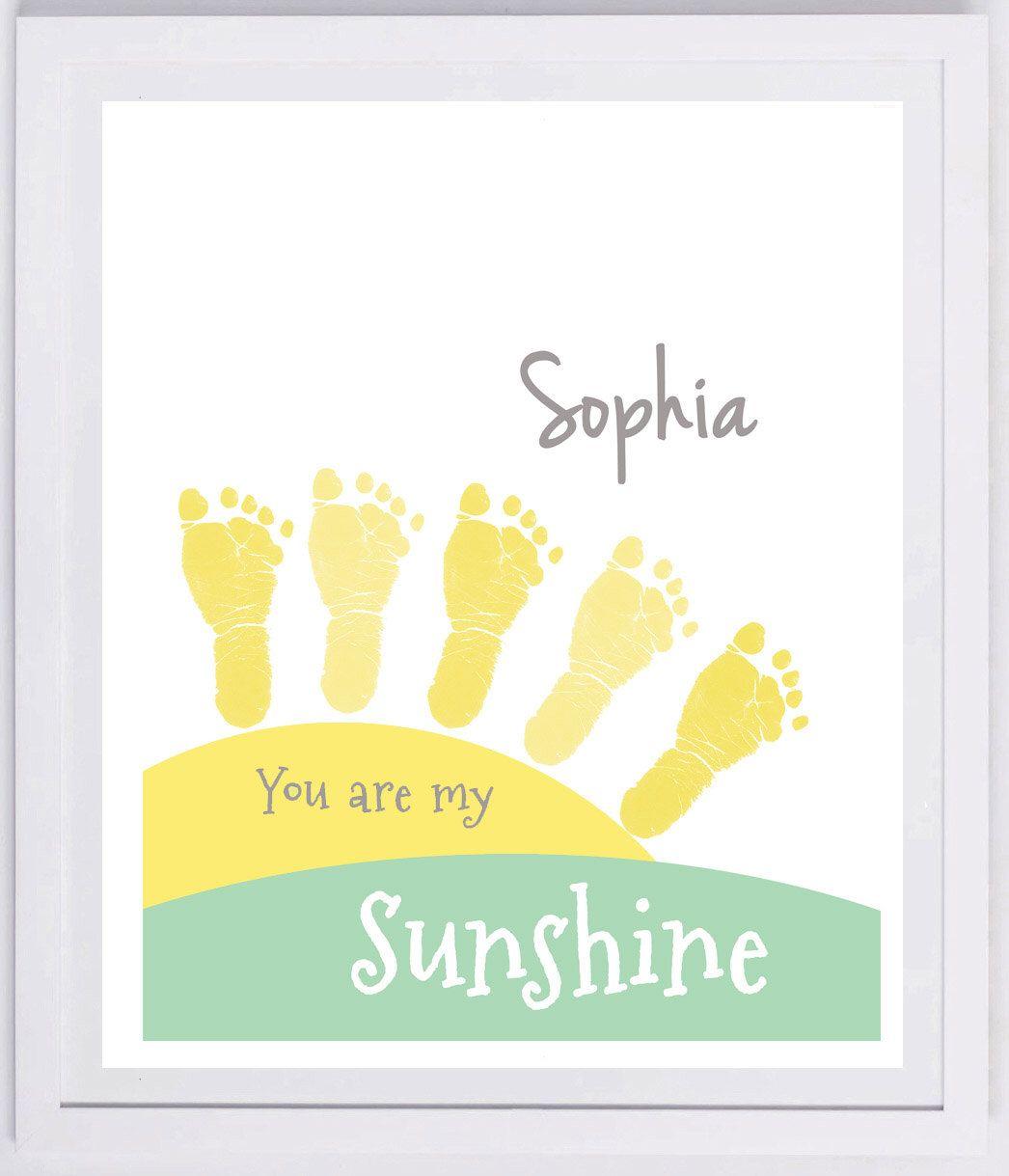 Sunshine Footprint Wall Art 903_pap by MyForeverPrints on Etsy https ...