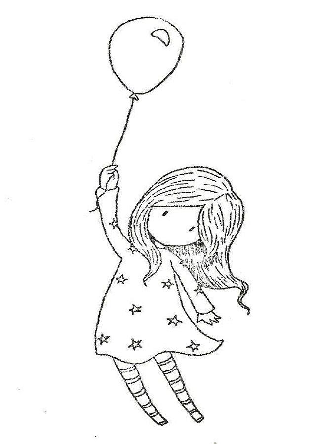 Imagen ni a santoro gorjuss para pintar con globo hello for Nina needs to go coloring pages