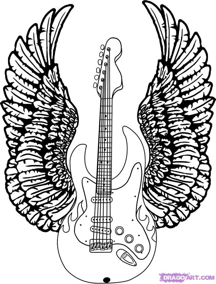 Step 8 Guitar drawing, Drawings