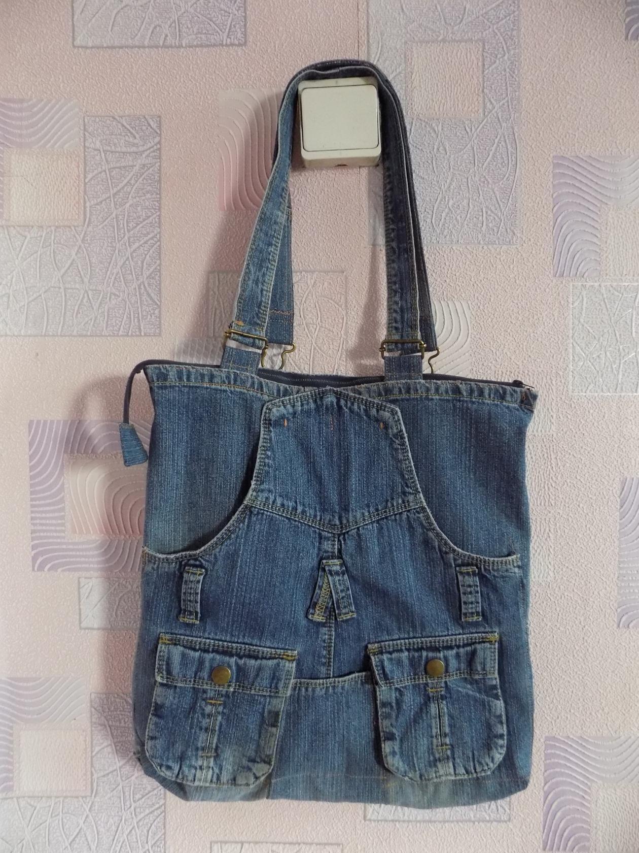 Идеи джинсовых сумок выкройки фото 763