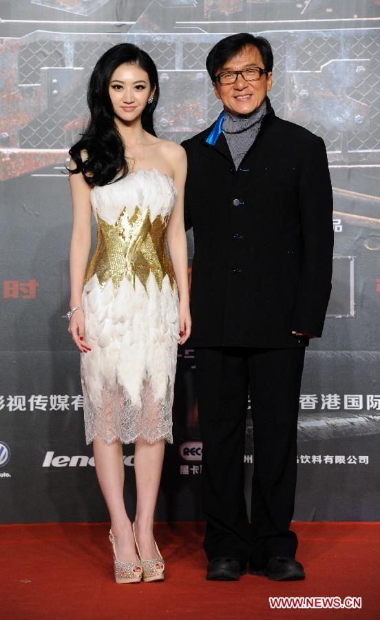 Hong Kong actor Jackie Chan and Chinese actress Jing Tian