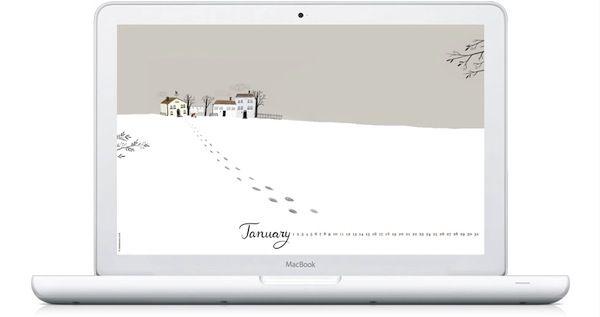 January 2015 Illustrated Desktop Wallpaper