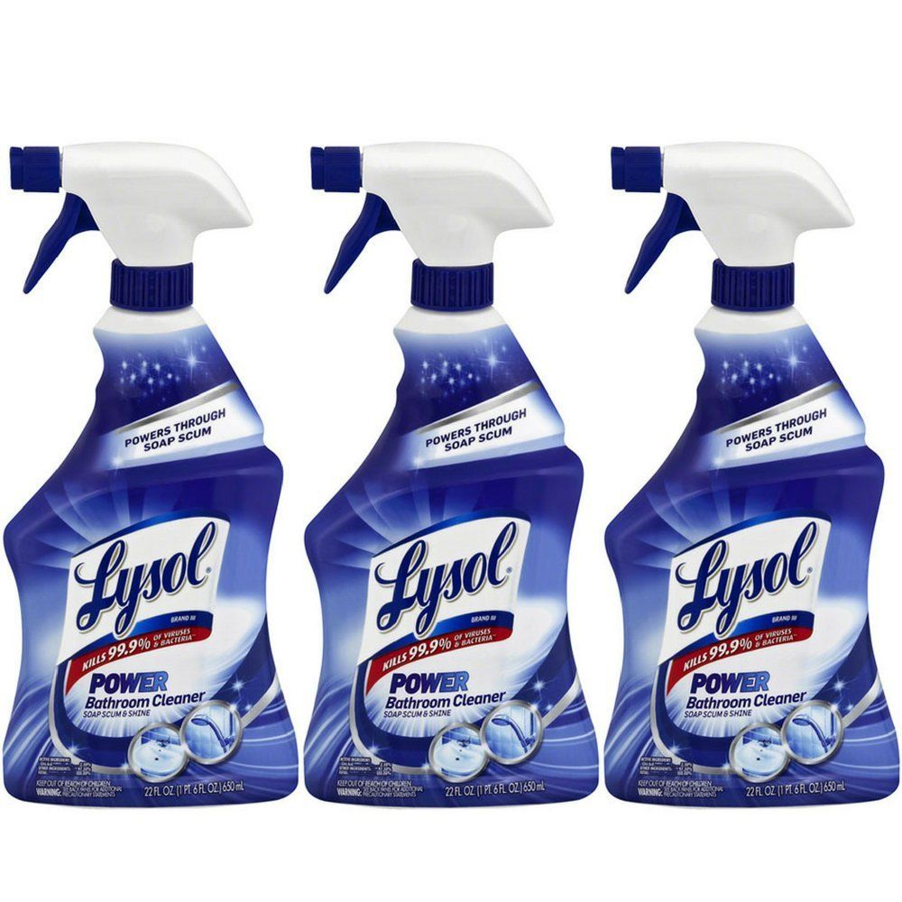 Lysol Power Bathroom Cleaner Trigger 22 Ounces Pack Of 3 Visit