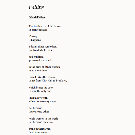 Read Falling By Patrick Phillips To Fall In Love All Over Again On Your