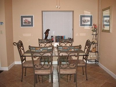 Dining room in our vacation rental in Hilton Head