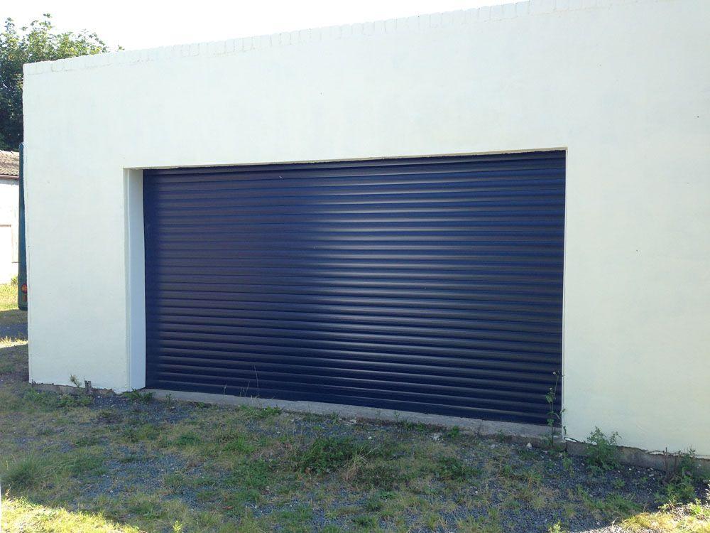 Blue Roller Garage Door Installed In Hull By Swan Gates Garage