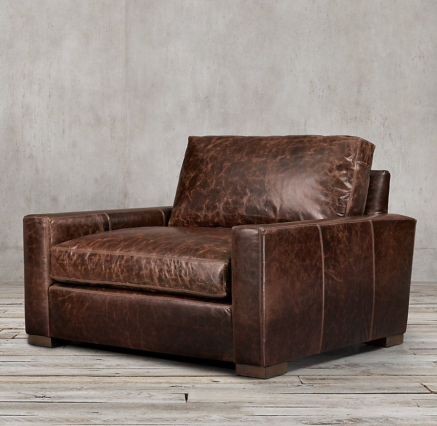 Maxwell Leather ChairandaHalf in 2020 Leather chair