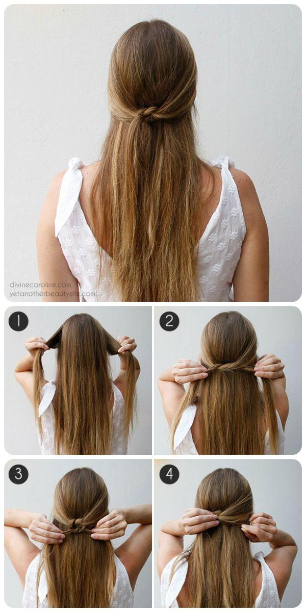 Como hacer un peinado semi recogido