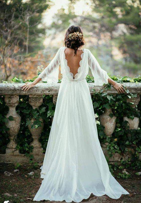 Chiffon Elegant Wedding Dress Y Long Sleeves And Flirty K A Boo Back Sold By Lily Dressy More Products From On