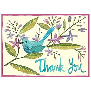Avian Friends Thank You Notes Thank You Note Cards Note Cards Baby Shower Thank You Cards