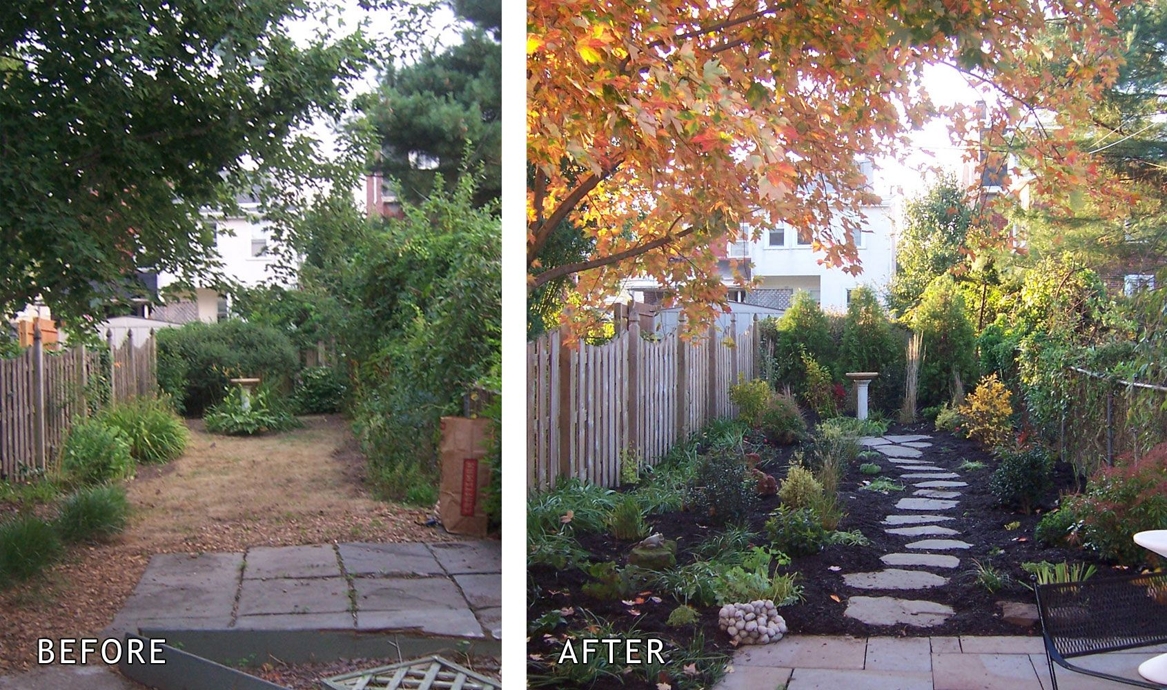 Small Front Yard Landscaping Before And After : Staging before after garden home make over