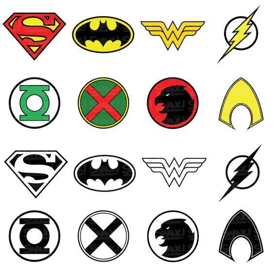 Justice League Superhero Symbol Clipart Svg Png Eps Etsy Superhero Symbols Justice League Symbols Justice League