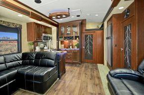 Tesla Toy Hauler >> Evergreen Tesla T3970 Toy Hauler Fifth Wheel Interior Home