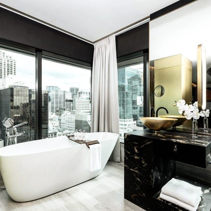 luxury bathroom with marble accents in Auckland New ...