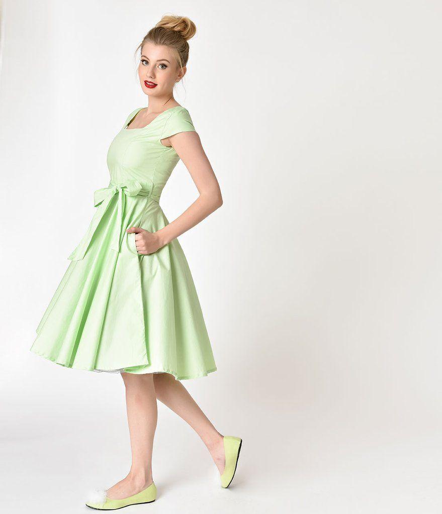 Retro Style Lime Green Cap Sleeve Anna Swing Dress Swing Dress Retro Fashion Dresses [ 1023 x 879 Pixel ]