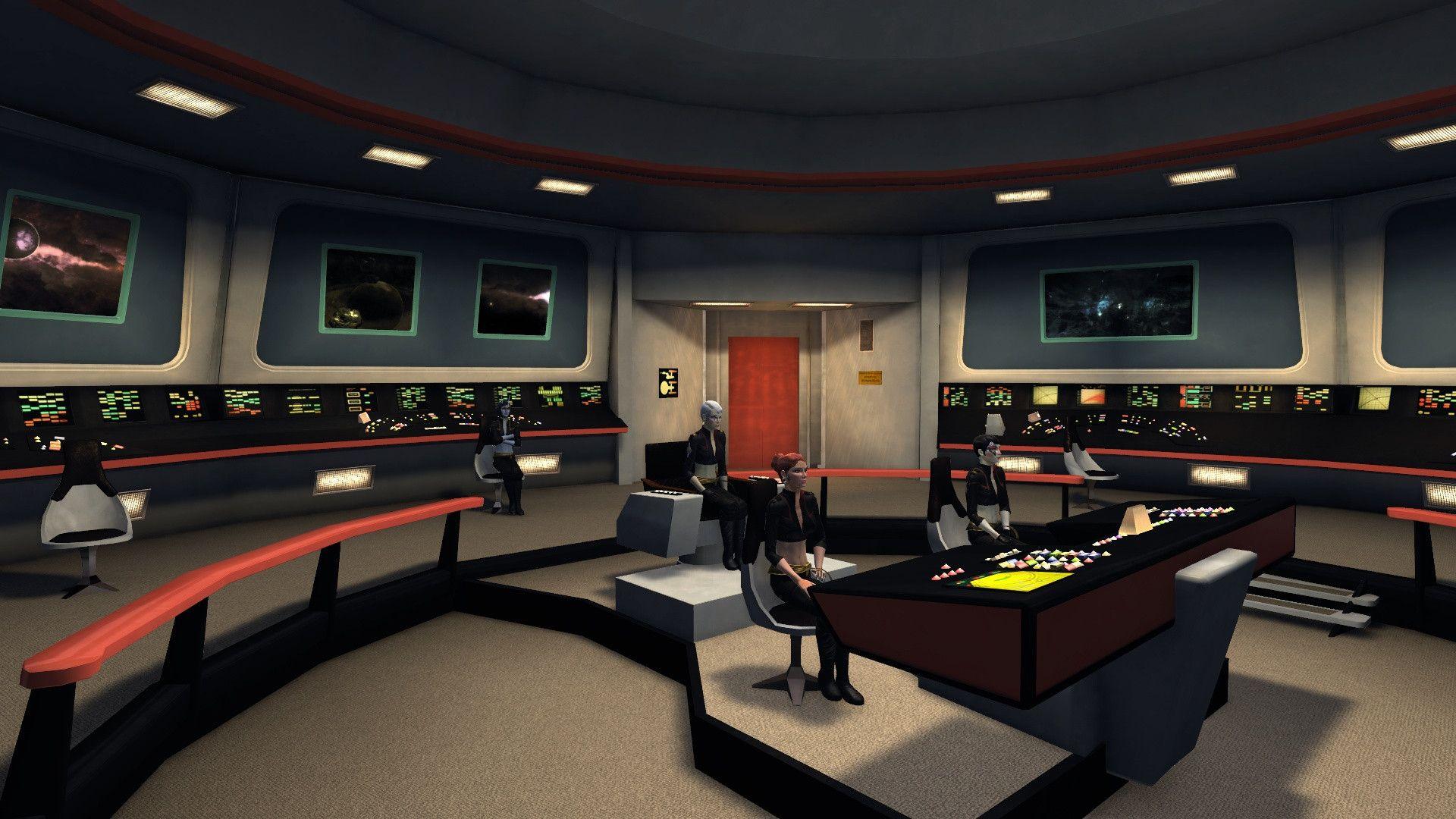 Bridge of Constitutionclass starship Star Trek Constitution