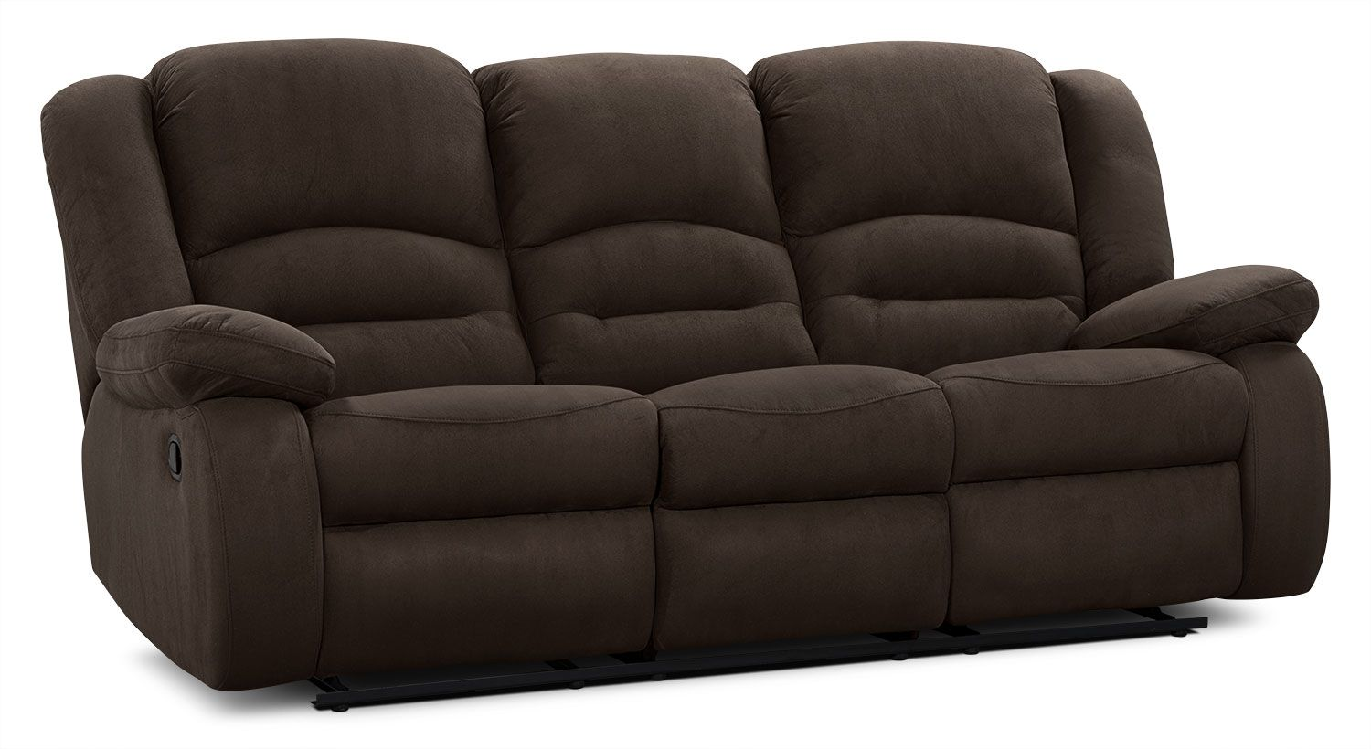 Slipcovers For Sofas The Toreno reclining sofa is simply perfect Covered in a lovely cocoa padded microsuede fabric