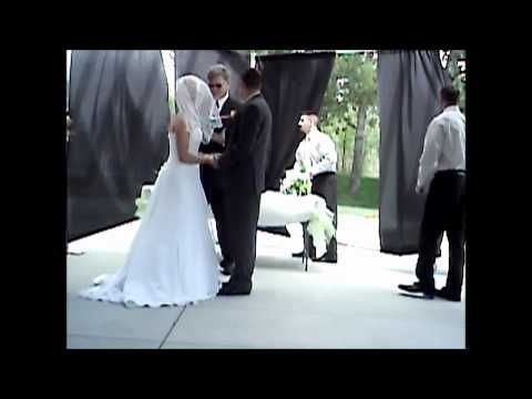 preacher gets hit in the head in the middle of a wedding!