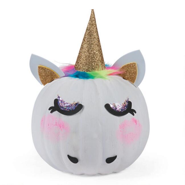 Unicorn Pumpkin Decorating Kit 16 Piece