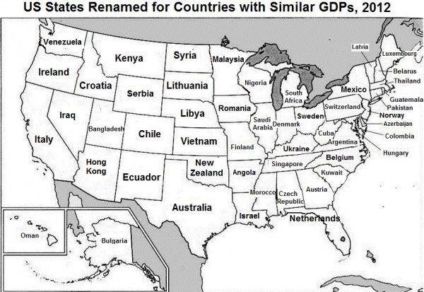This brilliant map renames each US state with a country generating