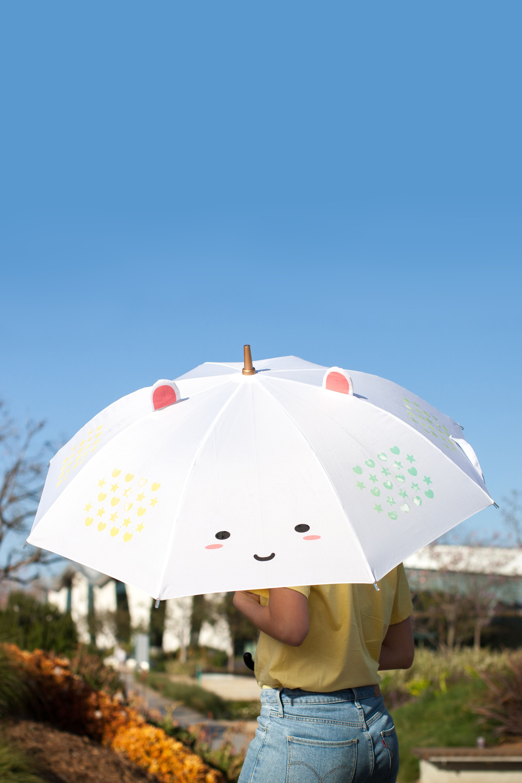 89b31f17f Cutest umbrella ever? We think so. This Elodie Umbrella features liquid  reactive patterns of