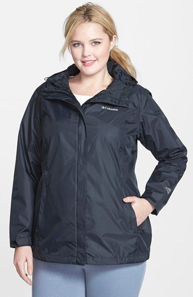 plus size women's columbia sportswear hooded waterproof rain