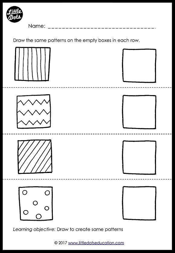 Preschool Patterns Matching Worksheets And Activities Preschool Patterns Matching Worksheets Preschool Activity Sheets