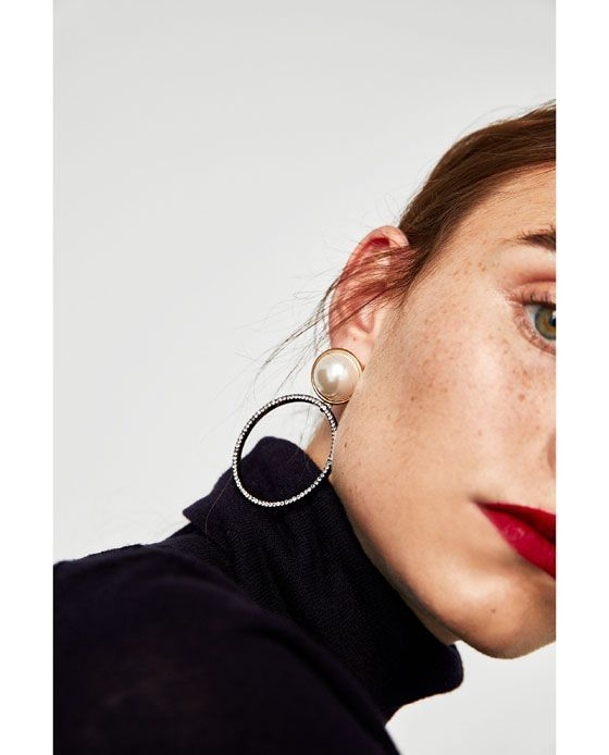 Photo of Image 2 of EARRINGS COMBINED WITH FAUX PEARLS from Zara