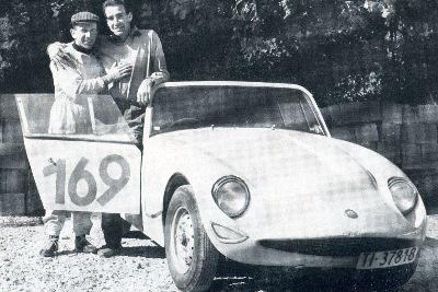 Silvio Moser and Clay Regazzoni, Austin Healey.