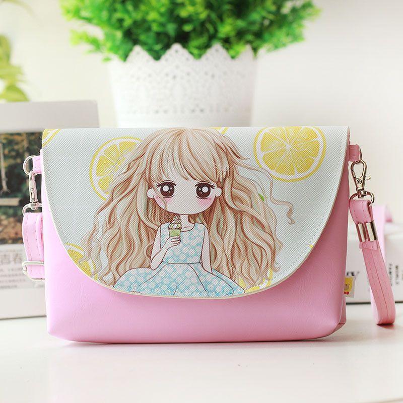 Cartoon PU Leather Zipper Women HandBags Fashion Handbags Children Messenger Bag Shoulder Bag for kindergarten Girl Design 15