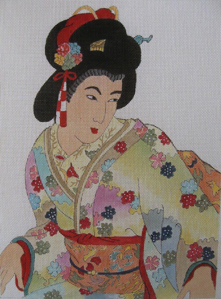 Geisha Needlepoint Canvas