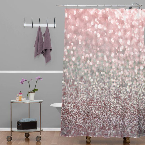 Snowfall Single Shower Curtain Pink Shower Curtains Gray Shower