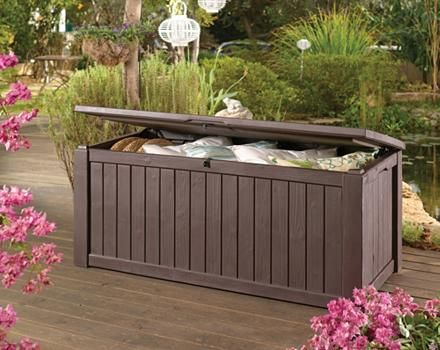 Extra Large Wood Look Deck Box Canadian Tire Outdoor Storage Bench Outdoor Outdoor Furniture