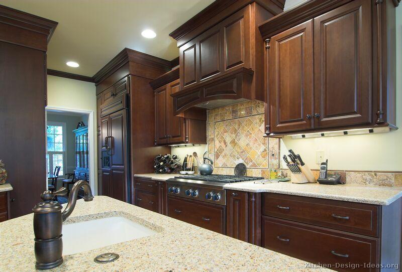 Best Kitchen Of The Day Dark Cherry Cabinets Matching 400 x 300