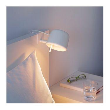 Ikea Varv Clamp Spotlight Easy To Attach To The Headboard