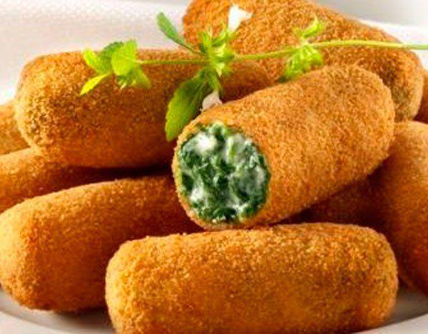 Croquetas de espinaca y queso roquefort