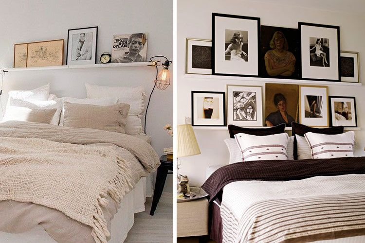 Decorar con estantes sobre la cama Beds Pinterest Estante