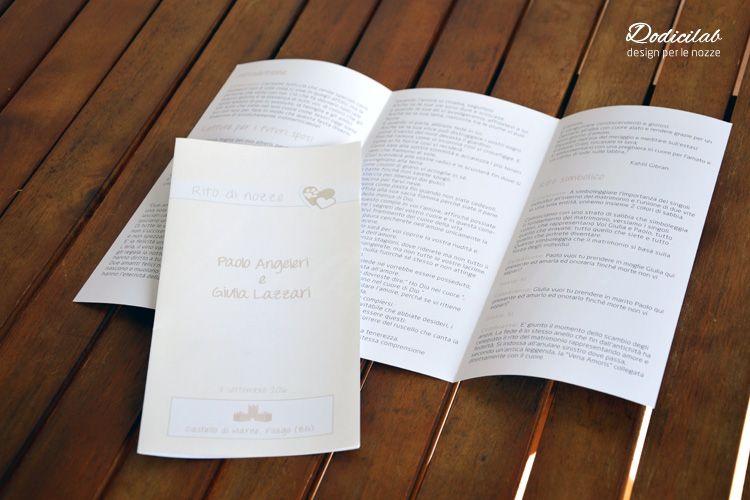 Libretti Matrimonio Rito Romano : Pieghevole personalizzato per rito civile libretti messa