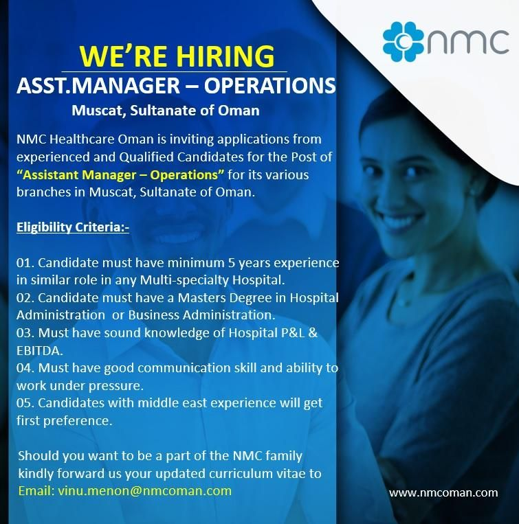 Assistant Manager Operations Oman Job Openings in 2020