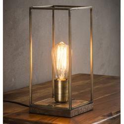 Photo of Tischlampe Industrial Antikbronze Sockel Miliboo