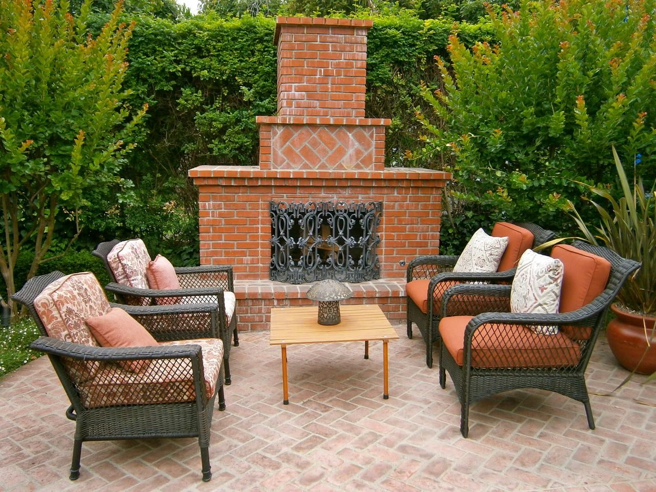 Outdoor Brick Fireplaces Outdoor Fireplace Outdoor Wood Burning