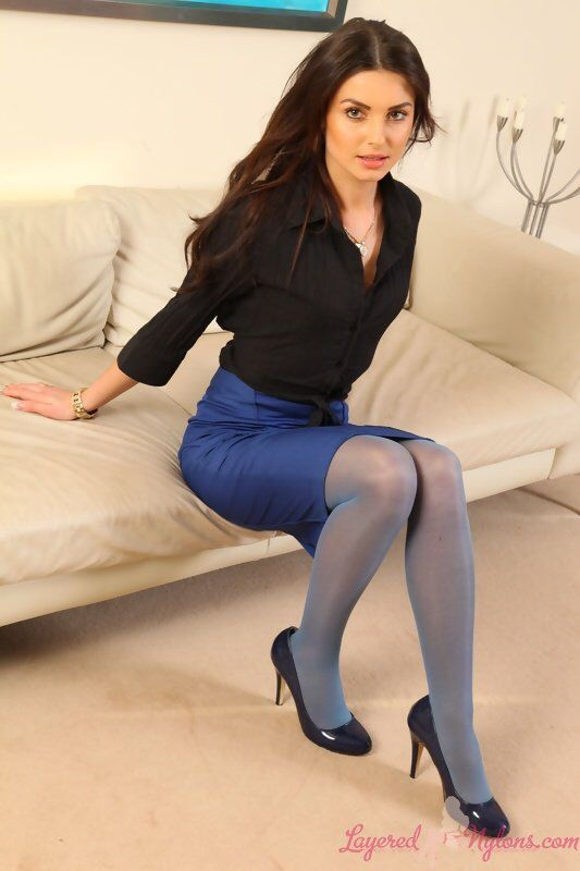 Buisness women in pantyhose