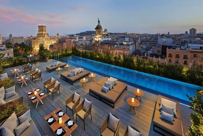 Luxury 5 Star Hotels Resorts Worldwide Mandarin Oriental Hotel Group Rooftop Dining Barcelona Hotels Rooftop Pool