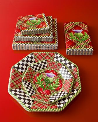 Highland Holiday Paper Plates, Napkins, & Guest Towels by MacKenzie ...