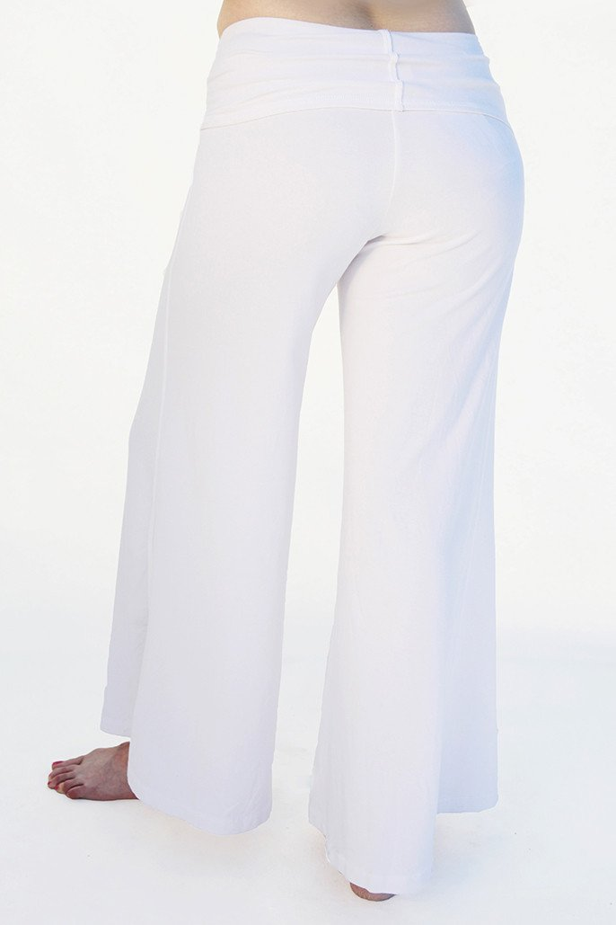 5f78140df4 Women's Yoga Parvati ' Palazzo Pants with wrap around attached belt to pants.  These eco