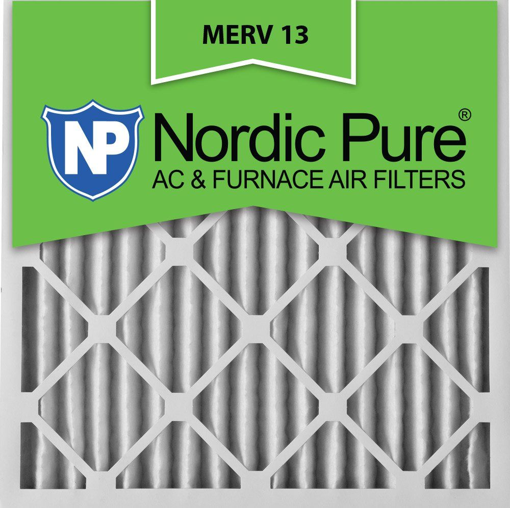Nordic Pure 24x24x2 Merv 13 Pleated Ac Furnace Air Filters 2 Inch