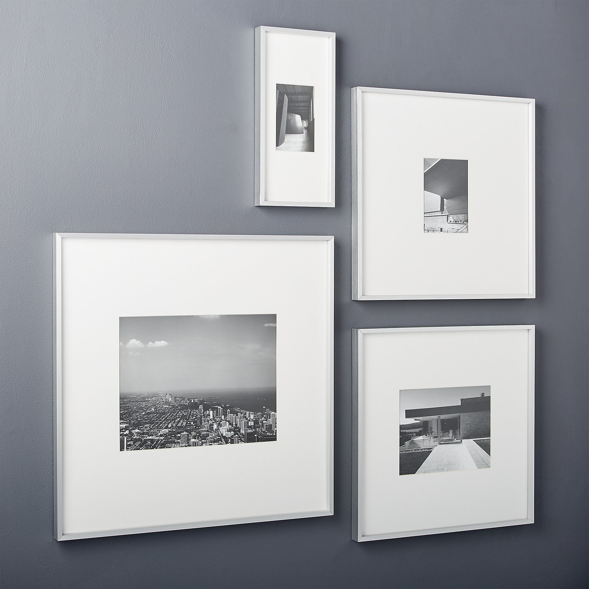 Gallery Silver Frames with White Mats in 2019 | 1800 Main