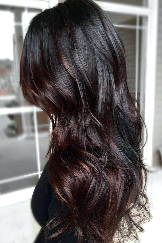 Dark Brown Hair With Red Highlights Google Search Fall Hair
