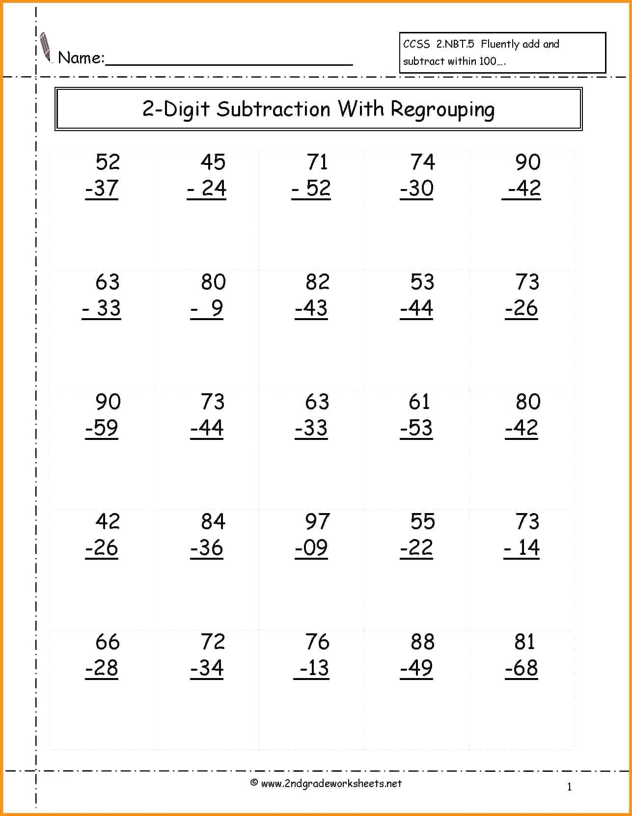 40 Innovative Second Grade Math Worksheets Design Ideas
